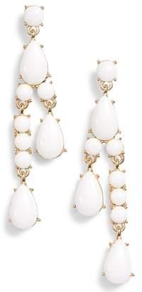 Halogen Resin Stone Linear Earrings