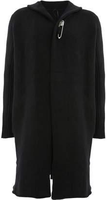 Masnada hooded mid-length cardigan