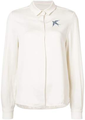 J.W.Anderson swallow embroidery shirt