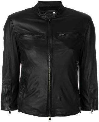 R 13 fitted leather jacket