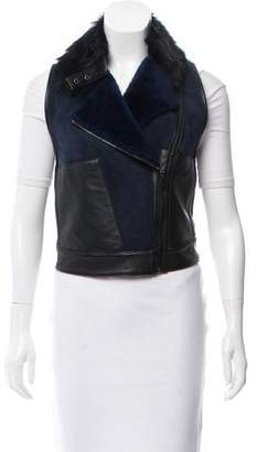 Ohne Titel Leather Trimmed Shearling Vest