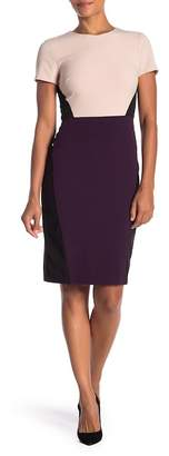 Vince Camuto Colorblock Short Sleeve Bodycon Dress
