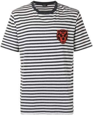 Diesel striped patch T-shirt