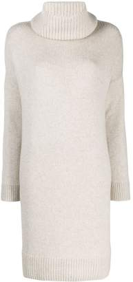 Loro Piana removable collar sweater dress