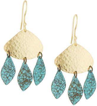 Panacea East-West Drop Earrings w/ Patina Dangles