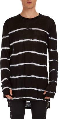 Balmain Tie-Dye Striped Linen Sweater