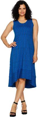 Halston H By H by Petite Sleeveless Printed Hi-Low Hem Maxi Dress