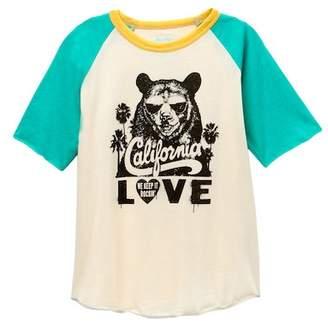 Rowdy Sprout Tupac California Love Raglan Tee (Toddler, Little Boys, & Big Boys)