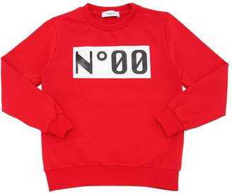 Numero 00 Logo Printed Cotton Sweatshirt