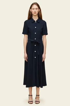Mansur Gavriel Crepe Short Sleeve Shirt Dress