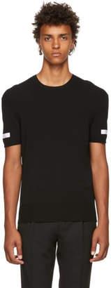 Neil Barrett Black Knitted Crewneck T-Shirt