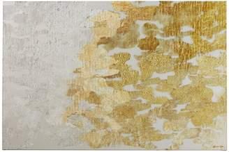 Victoria's Secret Willa Arlo Interiors 'Gold Platinum Abstract Art' Wrapped Canvas Print