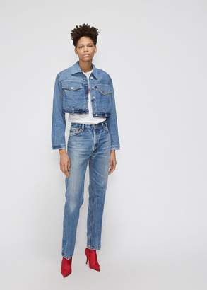 RE/DONE Reconstructed Cropped Denim Jacket