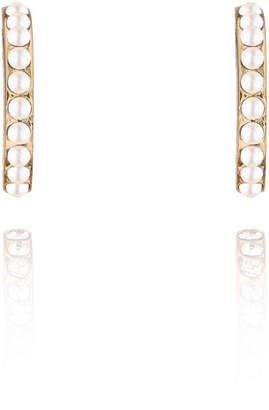 Vita Fede Luna Pearly Hoop Stud Earrings