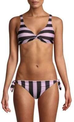 The Jane Striped Bikini Top