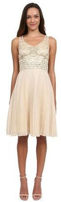 Sue Wong - Dress with Pleated Skirt in Champagne Cocktail Dress $599 thestylecure.com