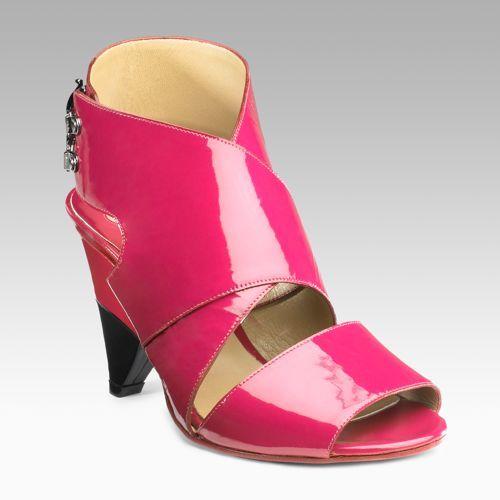 Chloe Patent Crisscross Sandals