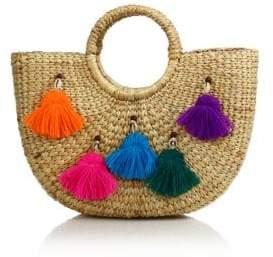 Tassel Pom Beach Basket
