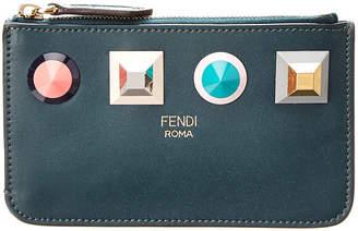 Fendi Studded Leather Keyring Pouch
