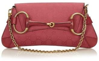 Gucci Vintage Guccissima Horsebit Chain Baguette