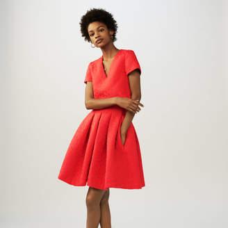 Maje Jacquard leopard sleeveless dress