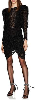 Isabel Marant Women's Margaret Dotted Fil Coupé Chiffon Minidress - Black