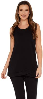 Denim & Co. Active Scoop Neck Hi-Low Hem Knit Tank