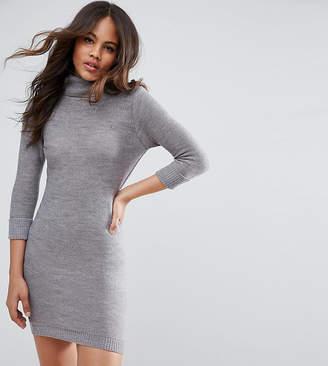 Brave Soul Tall Turtleneck Sweater Dress