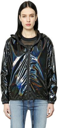 Packable Iridescent Nylon Windbreaker $226 thestylecure.com