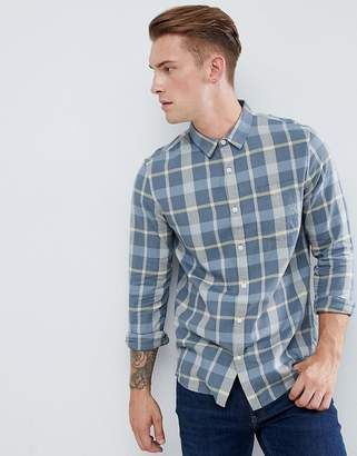 New Look regular fit check shirt in blue