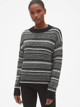 Gap Fair Isle Crewneck Pullover Sweater