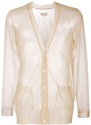 Maison Margiela sheer V-neck cardigan