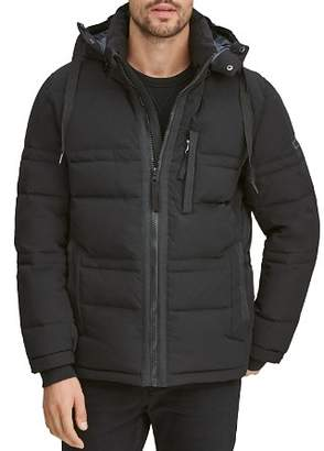Andrew Marc Huxley Removable-Hood Down Jacket