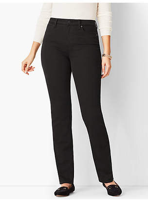 Talbots High-Rise Straight-Leg Jean - Curvy Fit/Never Fade Black