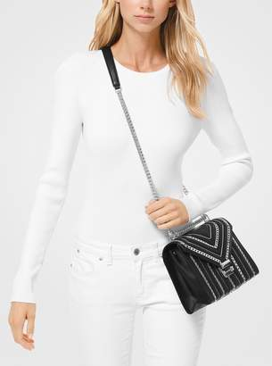 a25bfd3da2f7 MICHAEL Michael Kors Whitney Large Chain-Link Quilted Leather Convertible Shoulder  Bag
