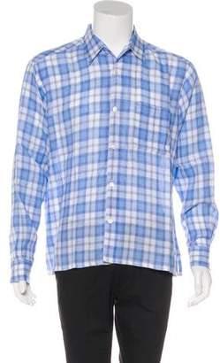 Hermes Plaid Linen Shirt