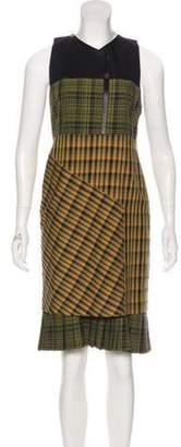 Derek Lam Sleeveless Printed Dress Brown Sleeveless Printed Dress