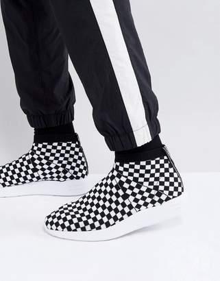 Asos DESIGN Sock Boot Sneakers In Checkerboard