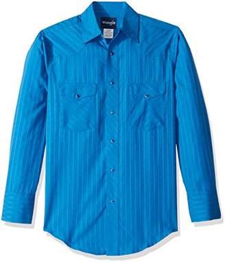 Wrangler Men's Sport Western Two Pocket Long Sleeve Snap Shirt