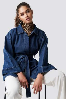 NA-KD Na Kd Denim Kimono Black Wash