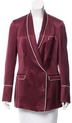 Dolce & Gabbana Silk Double-Breasted Blazer