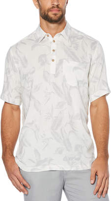 Cubavera New Stretch Woven Tropical Print Polo