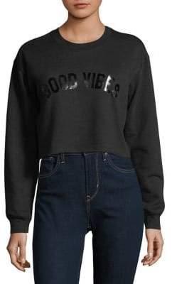 Sub Urban Riot Suburban Riot Good Vibes Cropped Sweatshirt