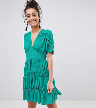 Asos Tall TALL Soft Mini Dress With Tiers