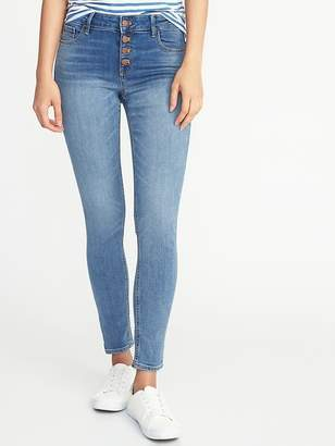 Old Navy Mid-Rise Button-Fly Rockstar Jeans for Women