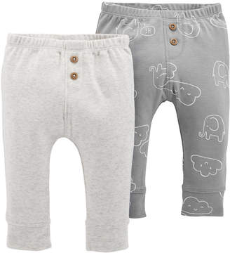 Carter's Baby Boys or Baby Girls 2-Pack Cloud-Print Cotton Jogger Pants