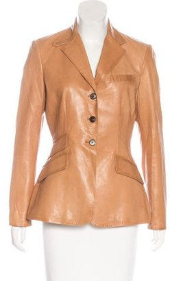 Ralph Lauren Long Sleeve Leather Blazer $145 thestylecure.com
