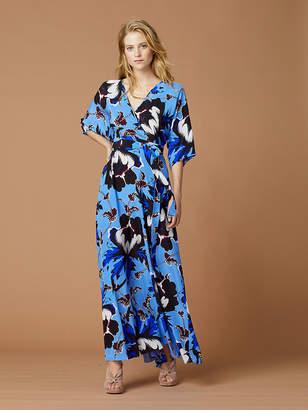 Diane von Furstenberg Eloise Silk Jersey Maxi Wrap Dress