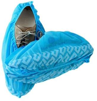 Blue Shoe Guys | 100 Premium Disposable Shoe & Boot Covers | Durable & Non-Slip, Water Resistant, Recyclable | One Size Fits Most