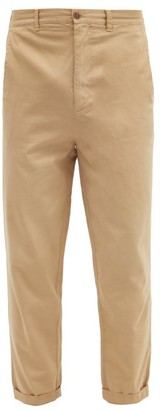 Raey Tapered Leg Cotton Chino Trousers - Mens - Dark Beige